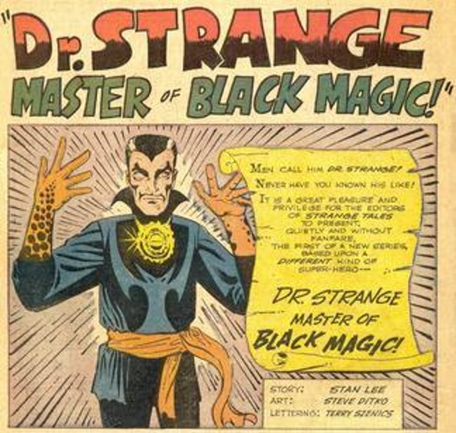The first appearance of Doctor Strange in 'Strange Tales' #110 in 1951.