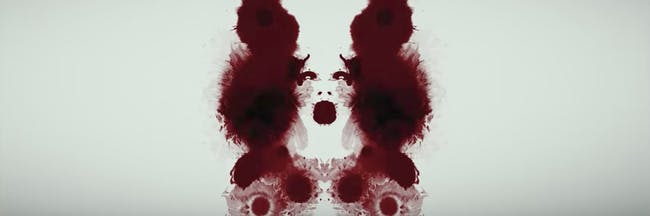 blood inkblot test face woman Rorschach