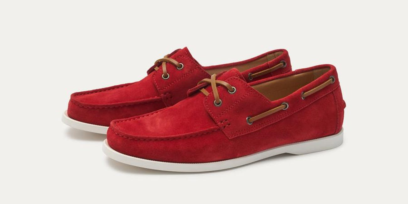 Baldwin Suede Boat Shoe - Red