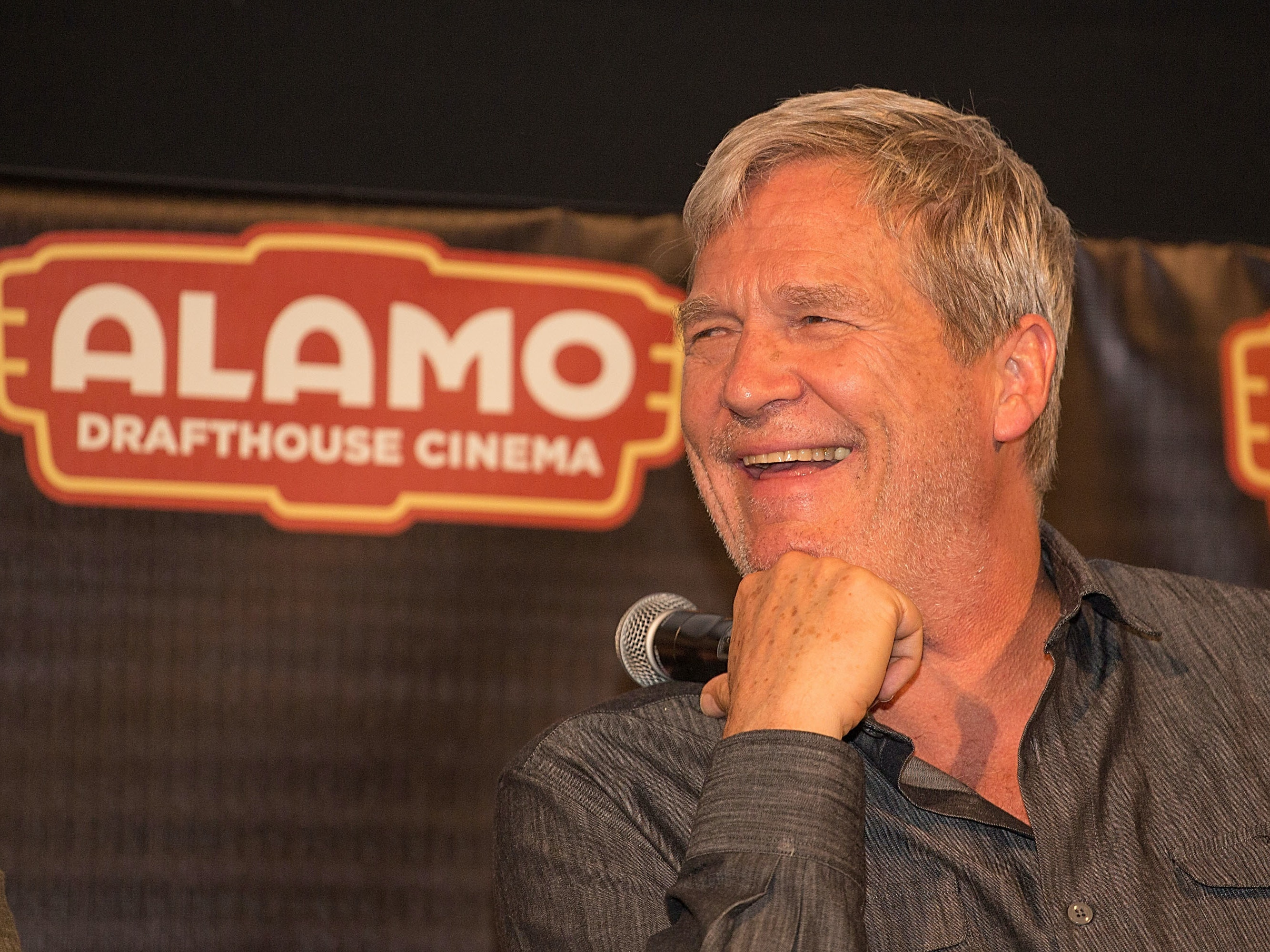AUSTIN, TX - JULY 25:  Actor Jeff Bridges participates in an Alamo Drafthouse Q&A following the Texas red carpet screening of 'Hell or High Water' on July 25, 2016 in Austin, Texas.  (Photo by Rick Kern/Getty Images for CBS Films)