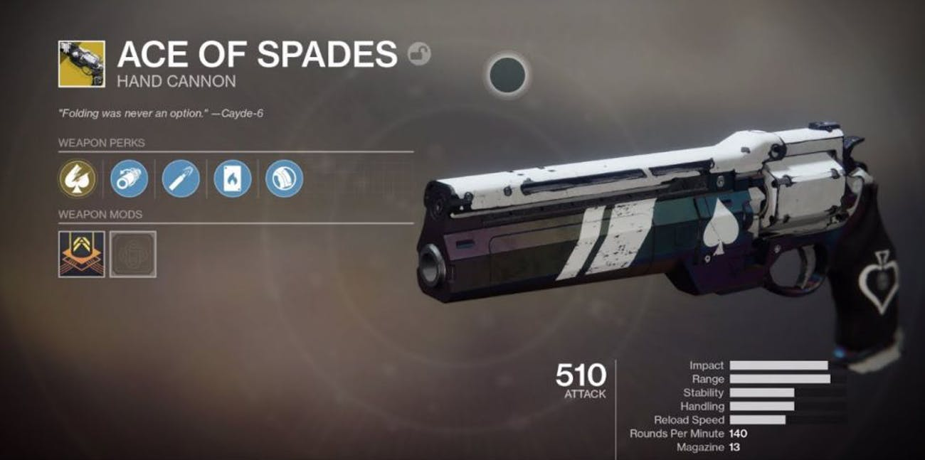 Destiny 2: Forsaken' Ace of Spades Quest: How to Get Cayde's