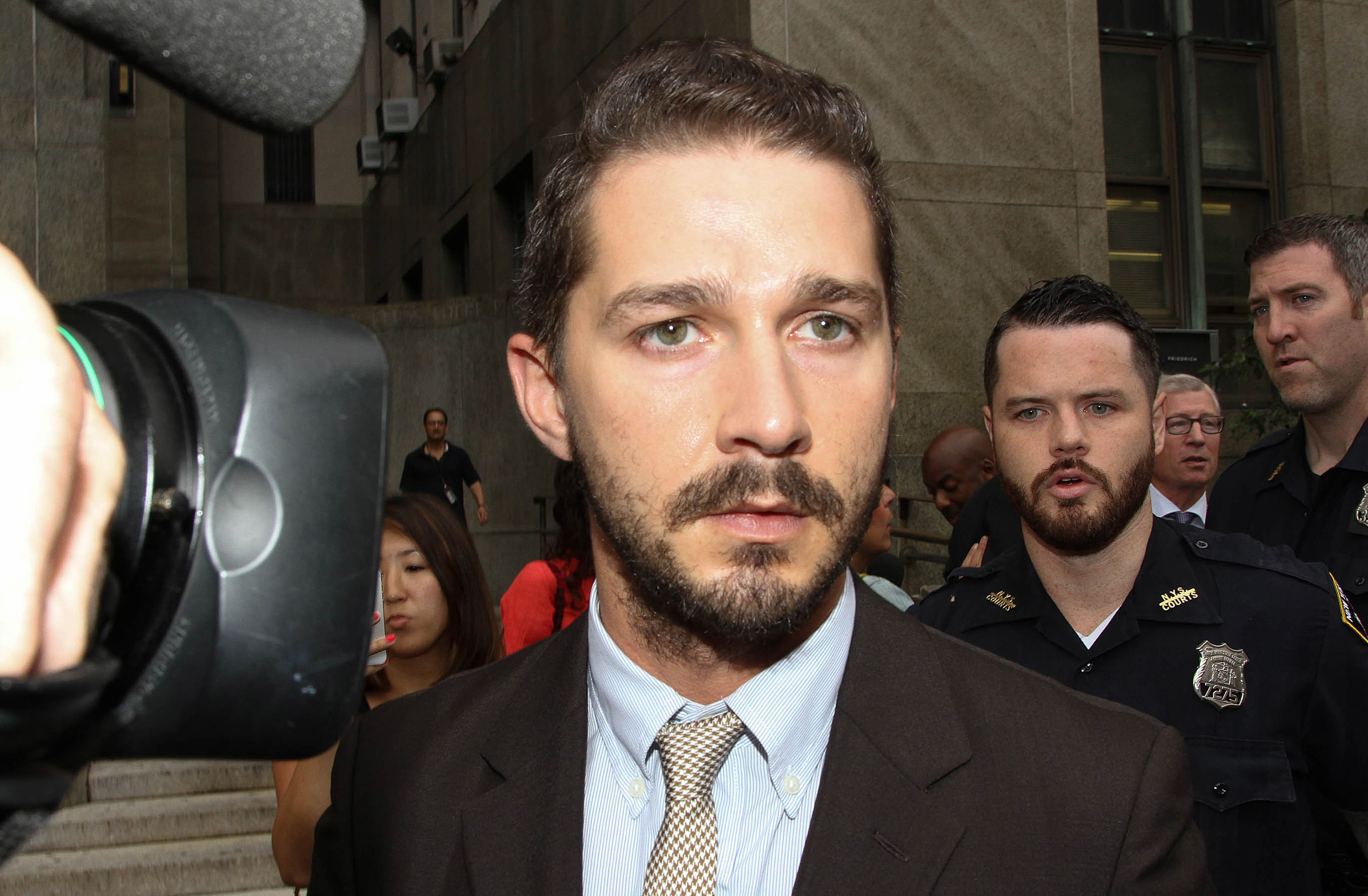 Shia La Beouf leaves criminal court