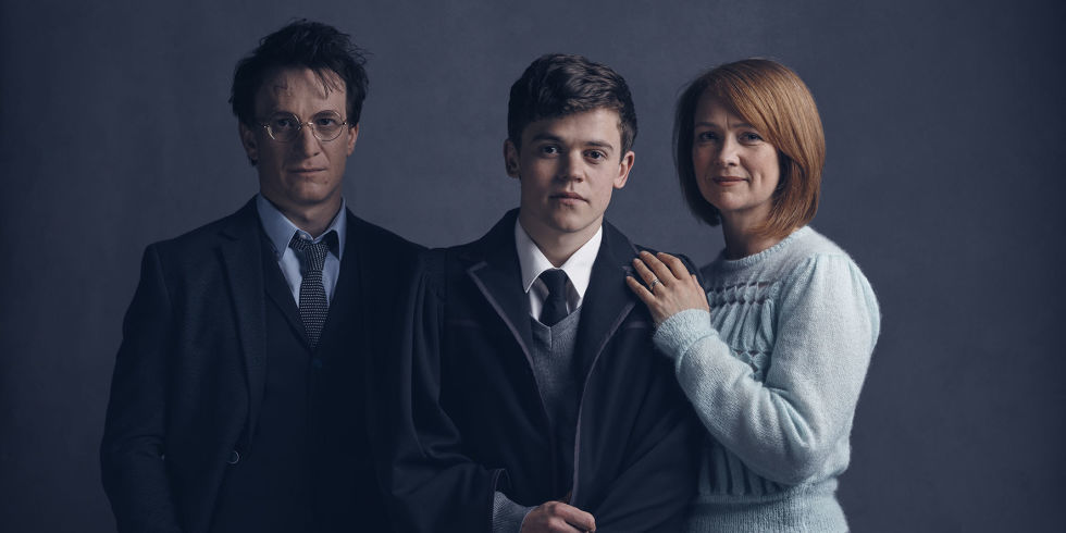 Harry, Albus, and Ginny Potter