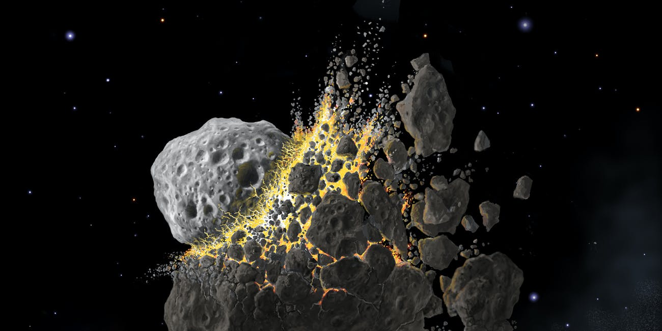 A massive asteroid breakup sent asteroid dust down to Earth, leading to a cooling effect that may have triggered an ice age.
