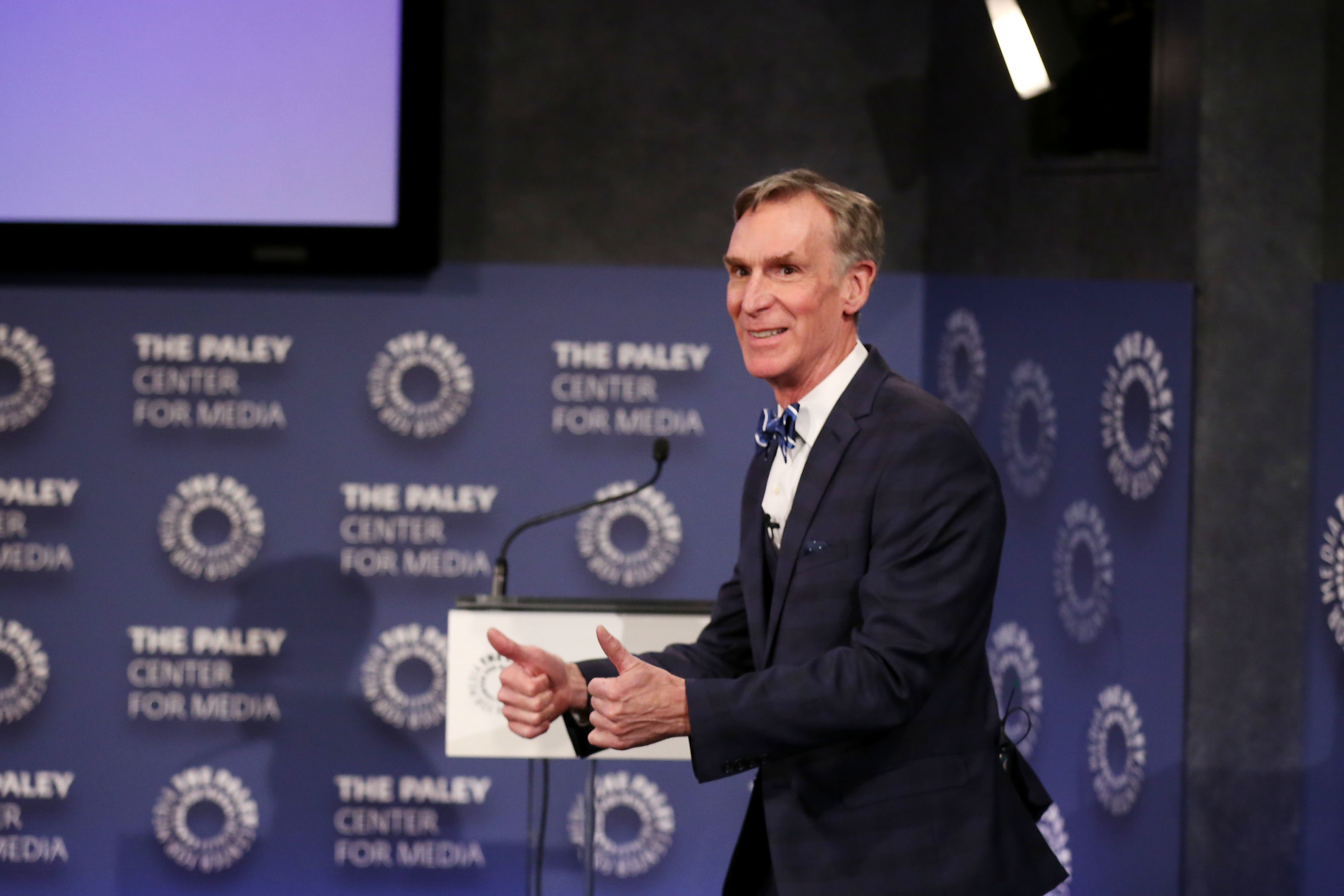 Bill Nye wants engineers in office but is reluctant to run himself.