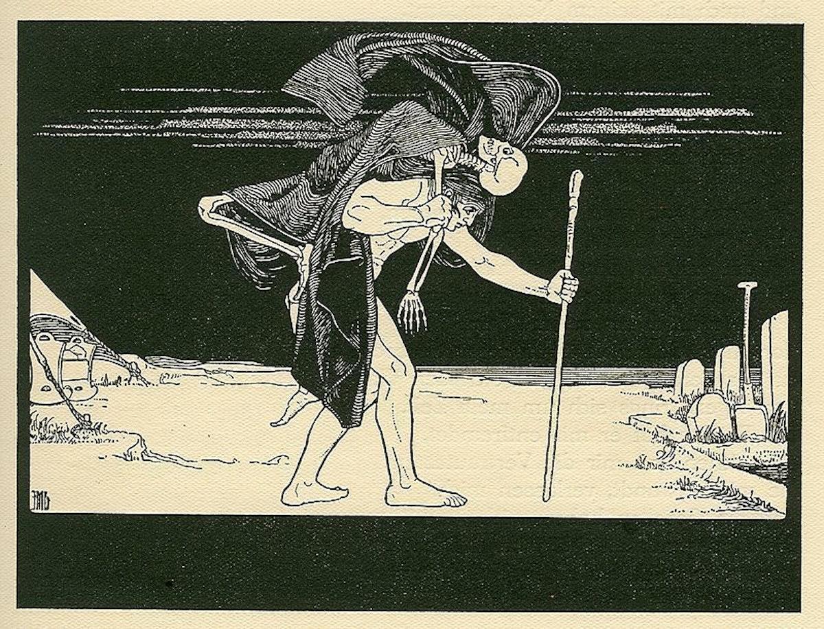 Ephraim Moses Lilien (1874–1925) - Book of Job, appearing in Die Bucher Der Bibel