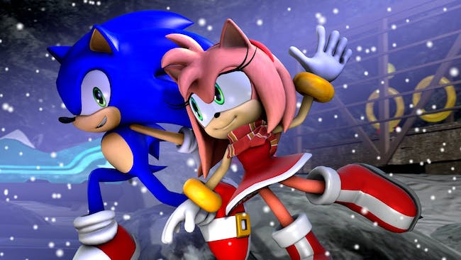 Amy Rose and Sonic