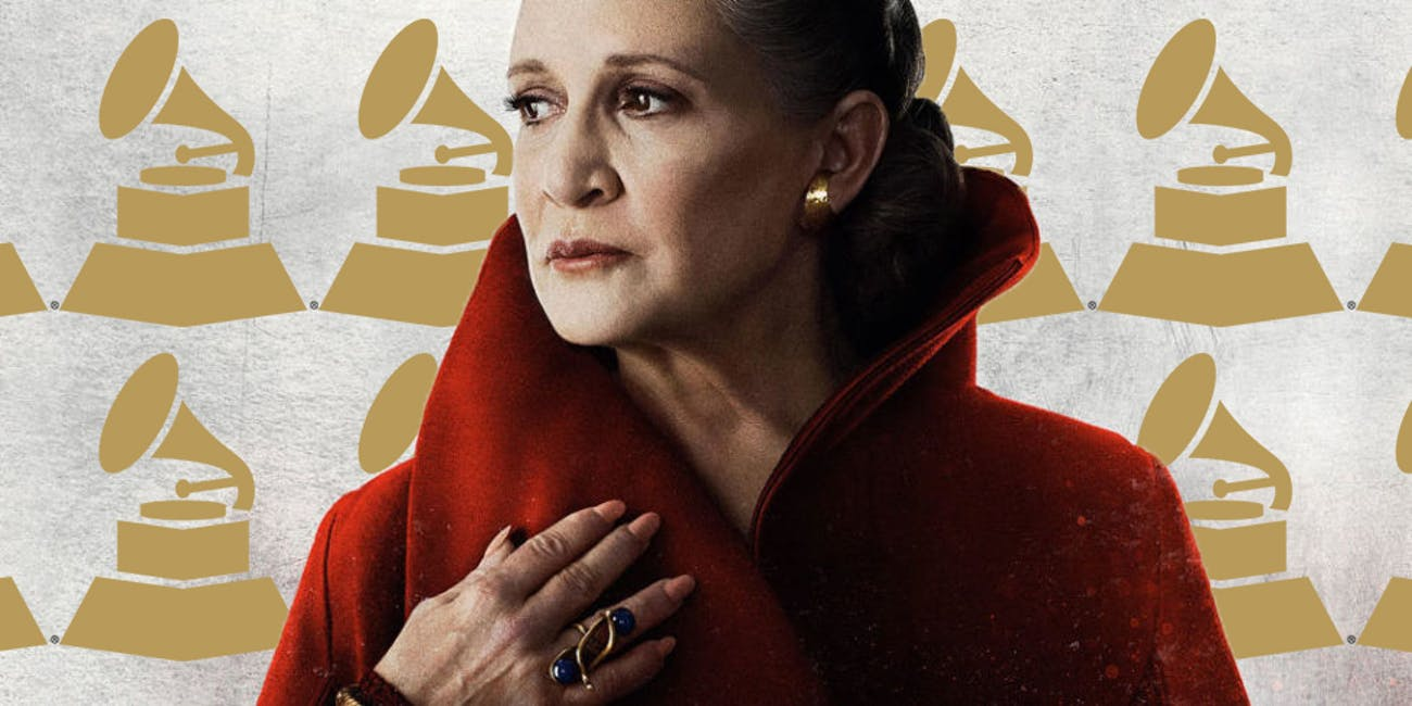 carrie fisher wins a grammy