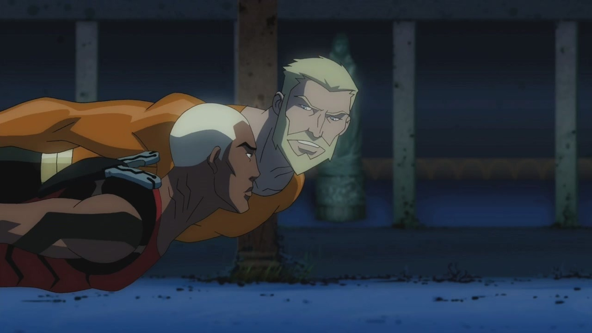 Aquaman discusses politics with his protege, Aqualad, in 'Young Justice.'
