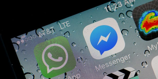 In this photo illustration, the WhatsApp application is displayed on a iPhone on April 6, 2016 in San Anselmo, California.