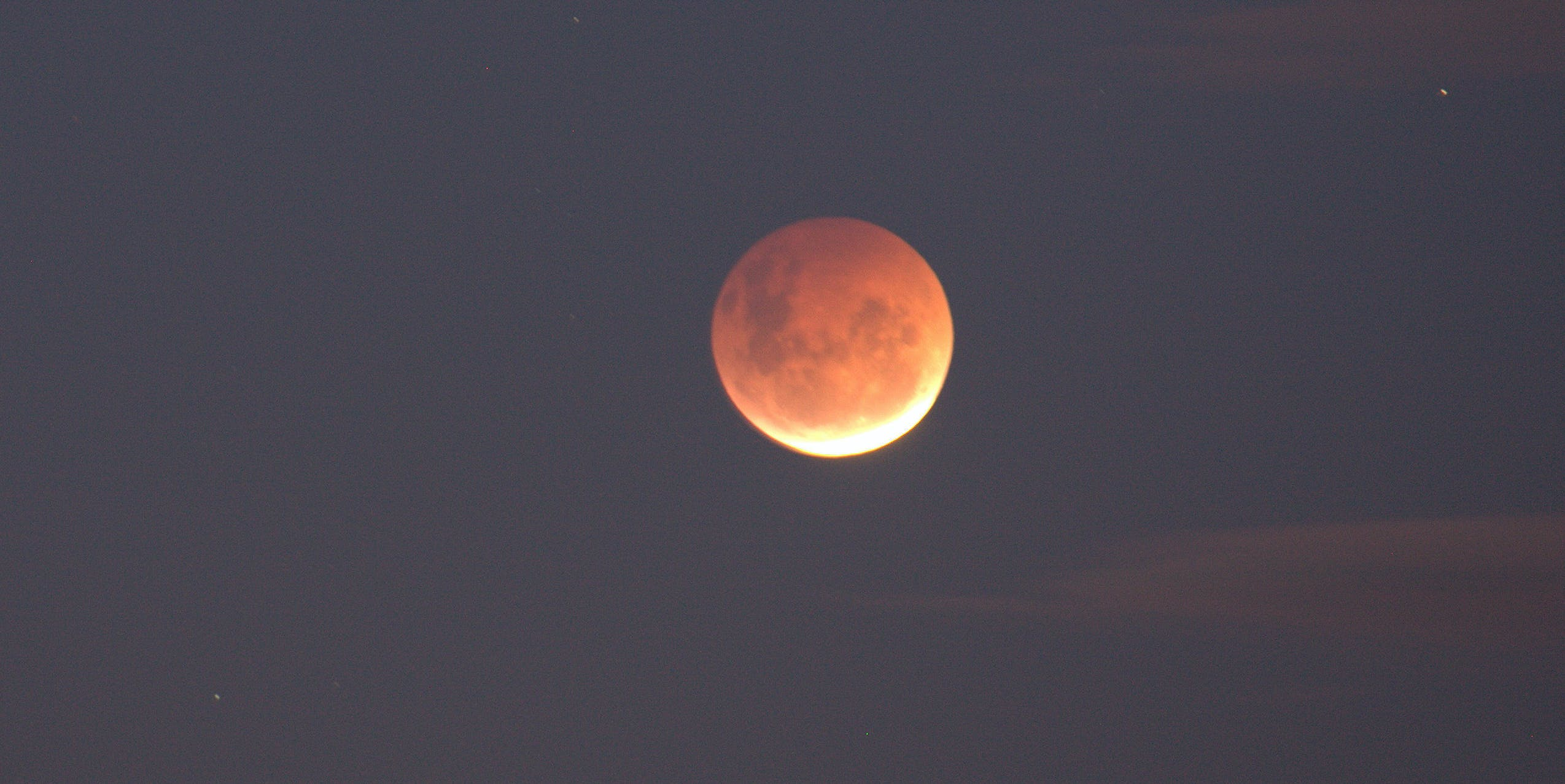 Pink Moon- just past full eclipse ...