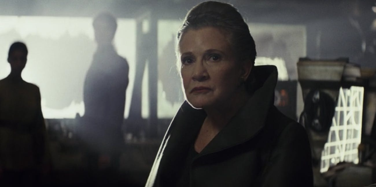 Carrie Fisher in 'The Last Jedi'