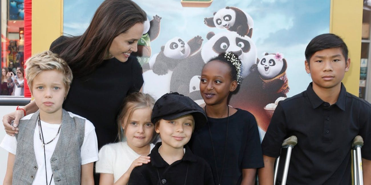 angelina jolie family kids children