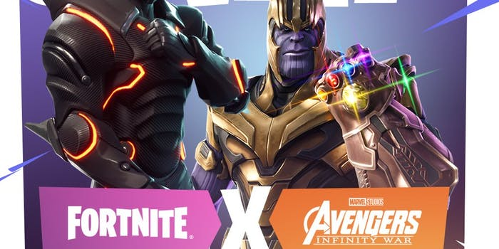 fortnite infinity gauntlet