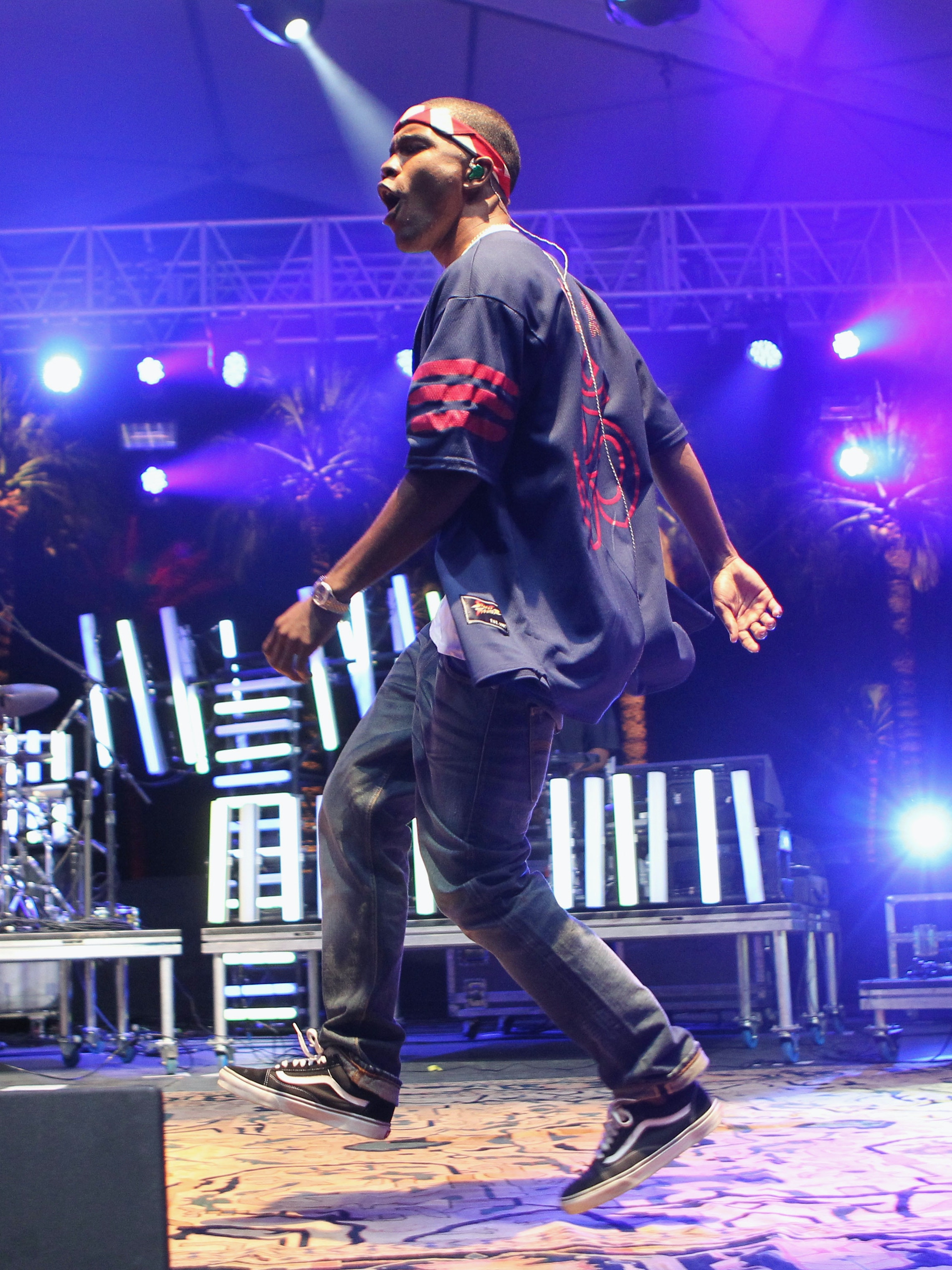 Singer Frank Ocean performs onstage at the 2012 Coachella Valley Music & Arts Festival held at The Empire Polo Field on April 13, 2012 in Indio, California.