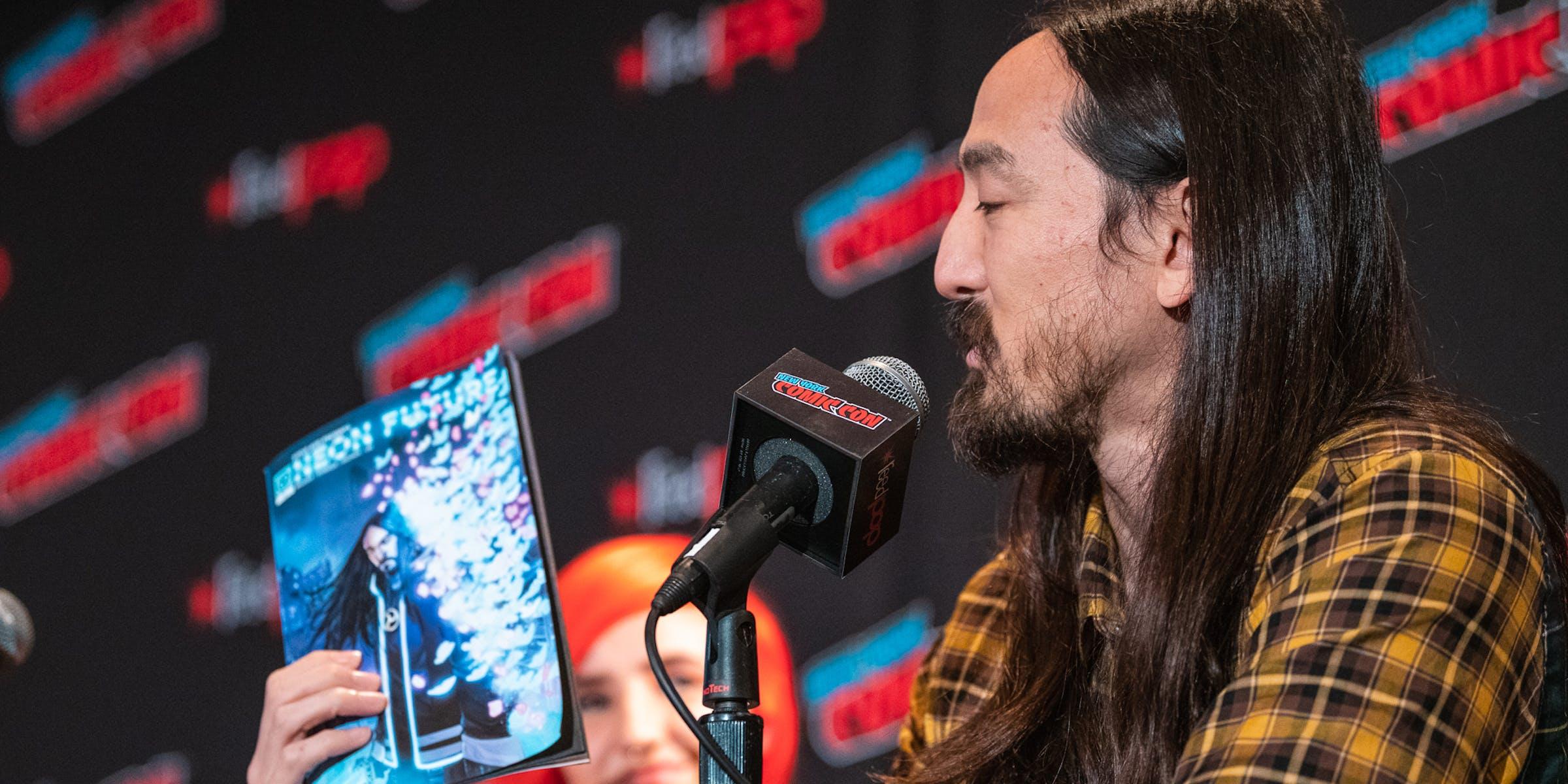 Steve Aoki Comic Con Impact Theory Neon Future