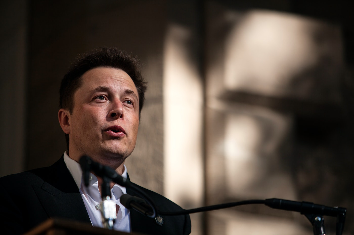 Elon Musk speaks at a press conference at the Nevada State Capitol, September 4, 2014 in Carson City, Nevada.