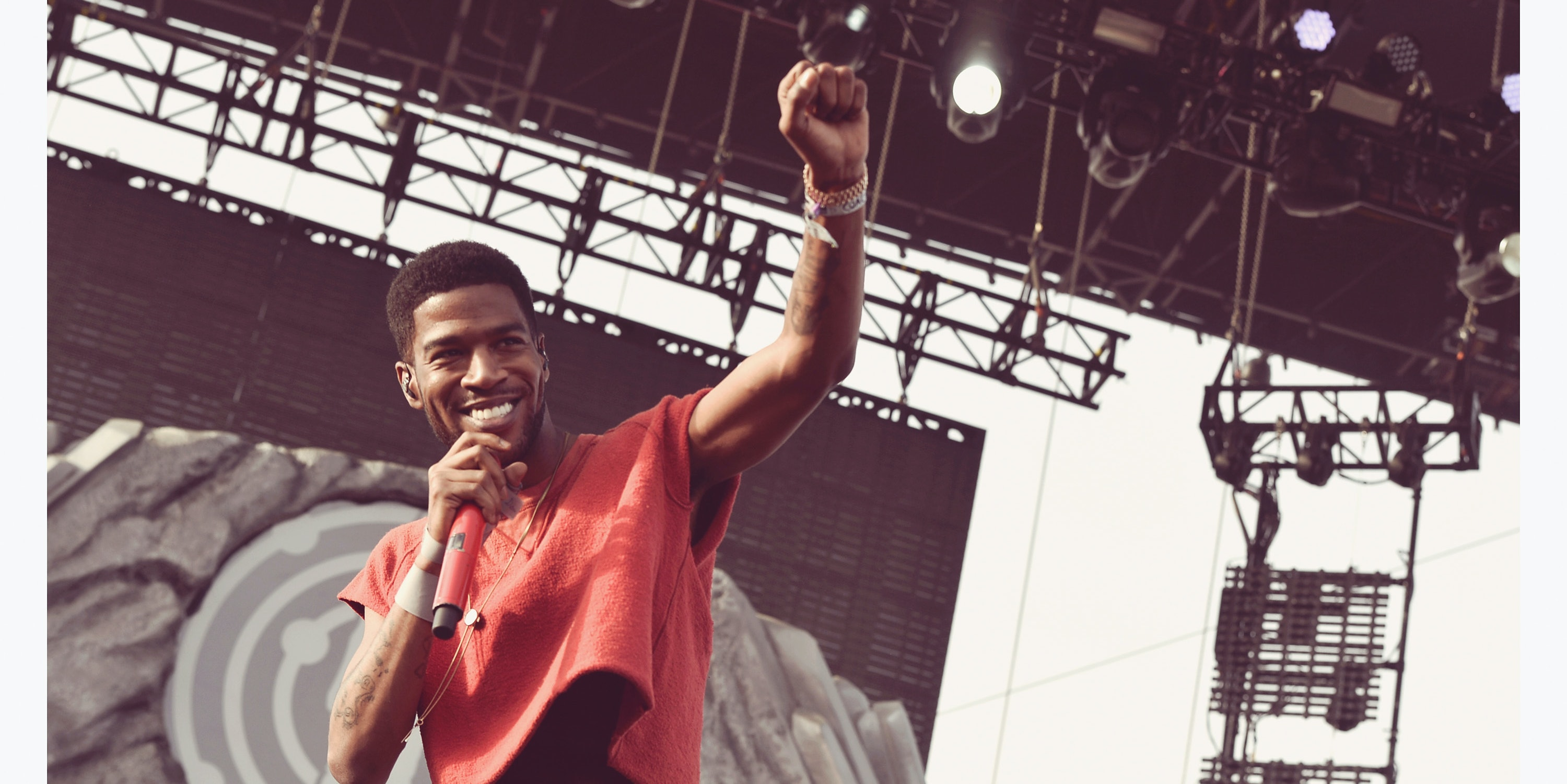 INDIO, CA - APRIL 12:  (EDITORS NOTE: Image was processed using Digital Filters) Rapper Kid Cudi performs onstage during day 2 of the 2014 Coachella Valley Music & Arts Festival at the Empire Polo Club on April 12, 2014 in Indio, California.  (Photo by Kevin Winter/Getty Images for Coachella)