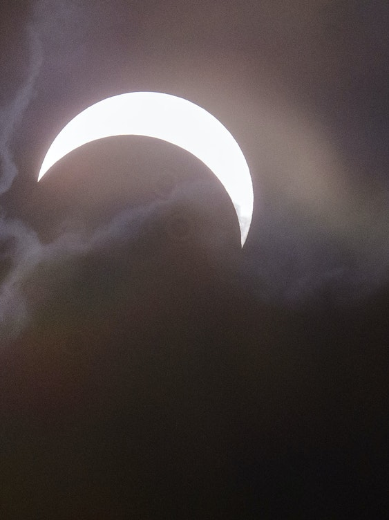 PALEMBANG, SUMATRA, INDONESIA - MARCH 09:  A total solar eclipse is seen from Palembang city on March 9, 2016 in Palembang, South Sumatra province, Indonesia. A total solar eclipse swept across Indonesia on Wednesday, seen by sky gazers and marked by parties, colourful tribal rituals and Muslim prayers.  (Photo by Ulet Ifansasti/Getty Images)
