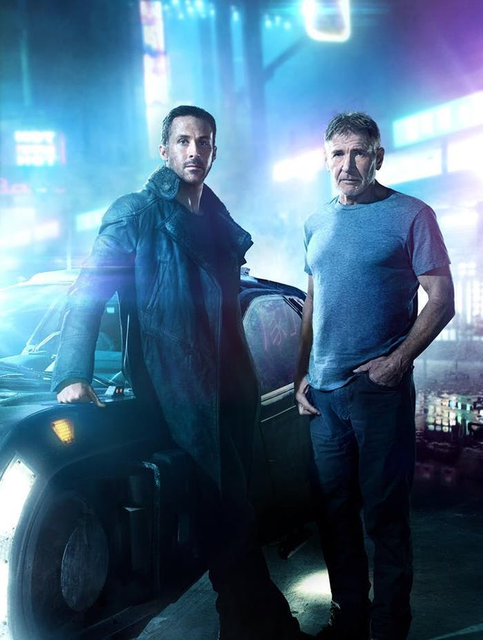 Ryan Gosling and Harrison Ford in Blade Runner 2049.