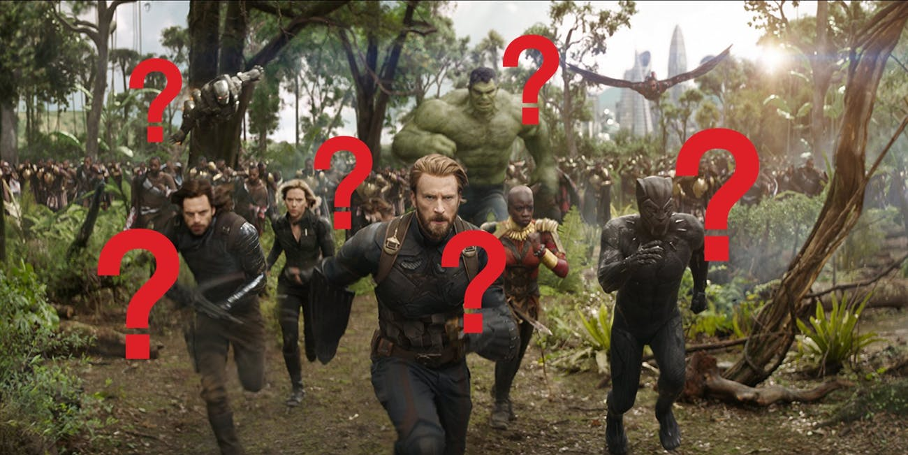 Which Avenger gets the most screen time in 'Infinity War'?