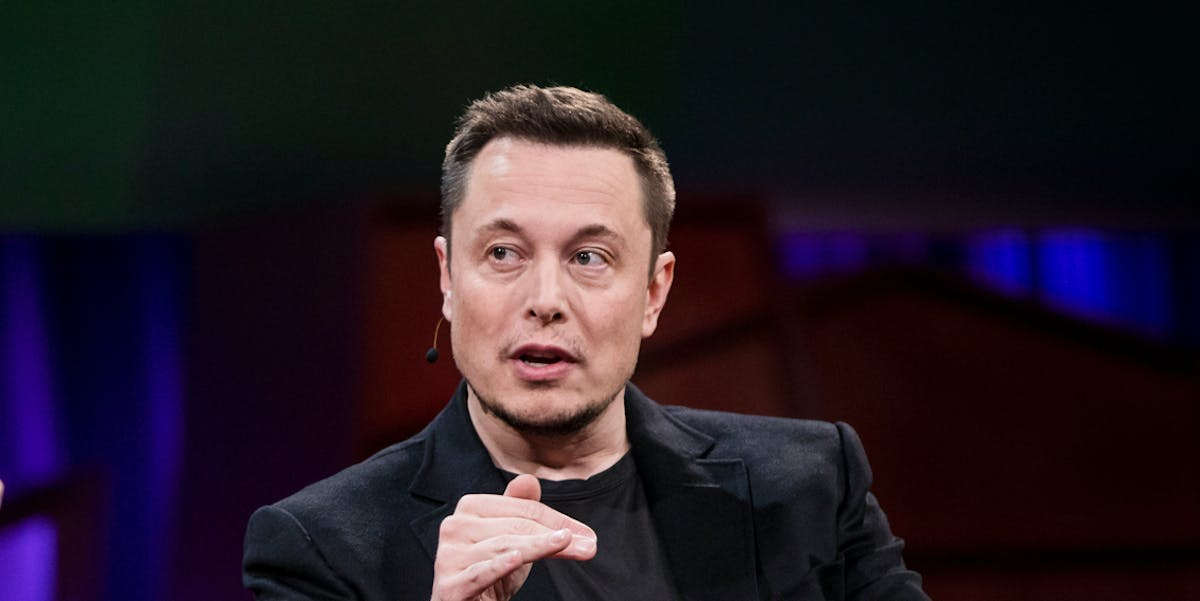 Elon Musk speaks at the TED 2017 conference in Vancouver.