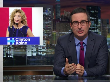 "John Oliver on DNC: Kaine Is ""a Human Sweater Vest"""