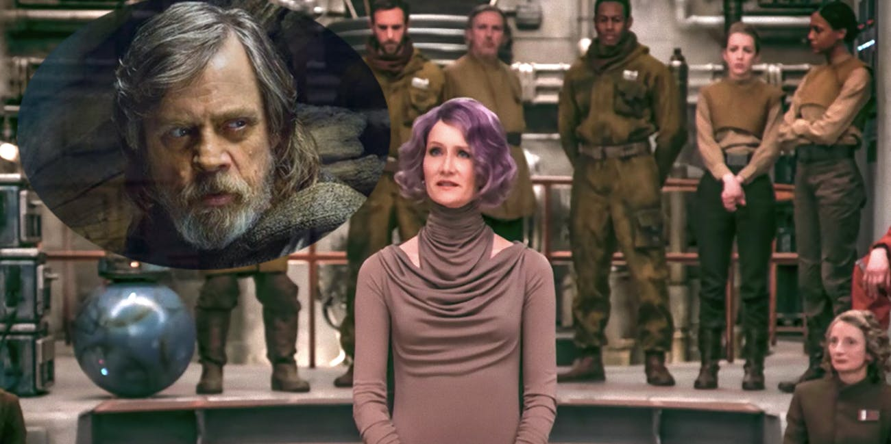 Luke Skywalker meet...Admiral Holdo