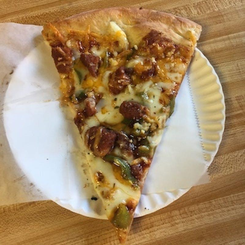 1998 McDonald's Mulan Szechuan Dipping Sauce Pizza from Vinnie's Pizzeria.