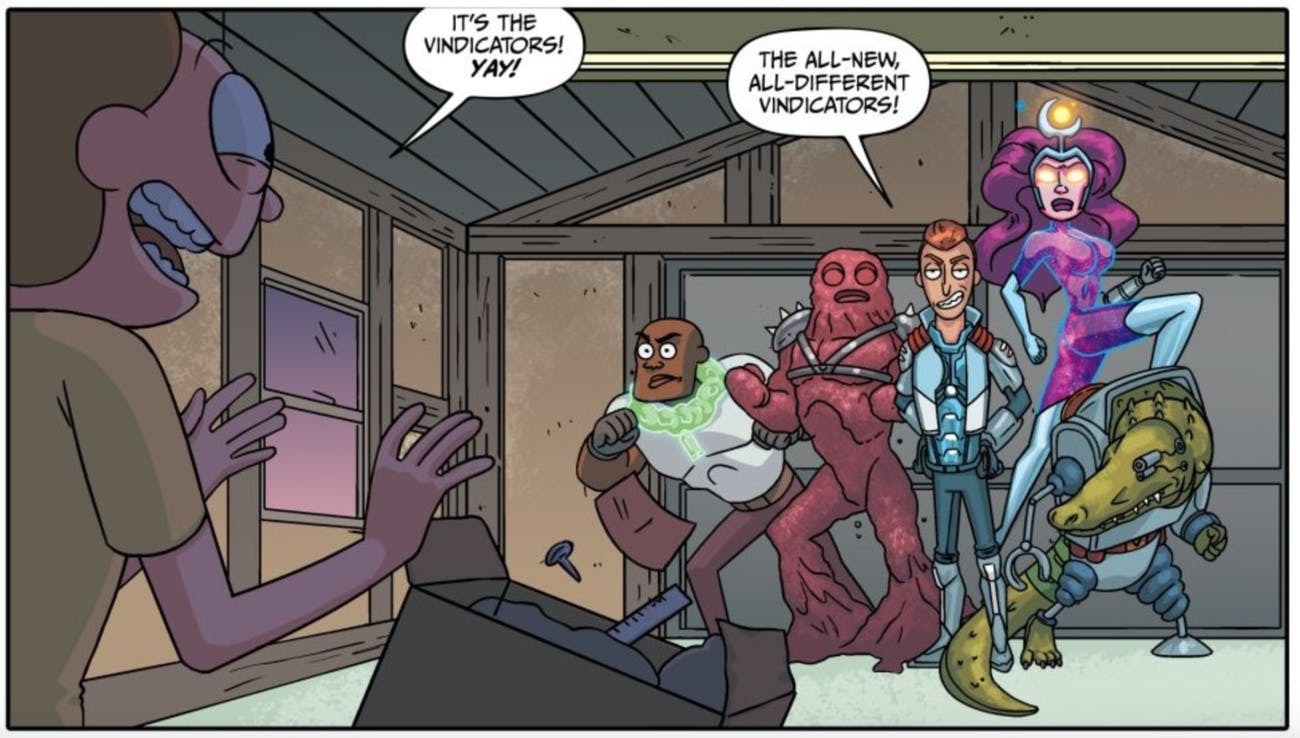 This 'Rick and Morty' comics introduces an alternate version of the Vindicators.