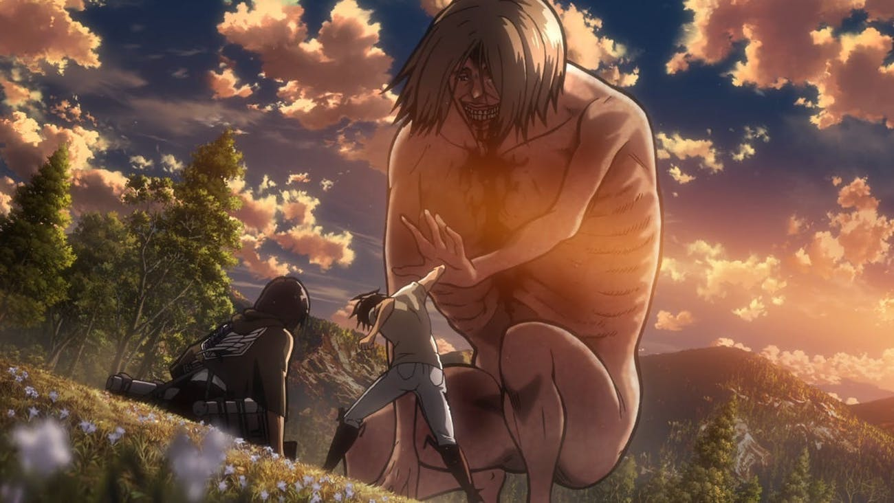 Eren successfully activates the power of the Coordinate.