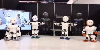 surena mini robot dance robotic humanoid tehran iran