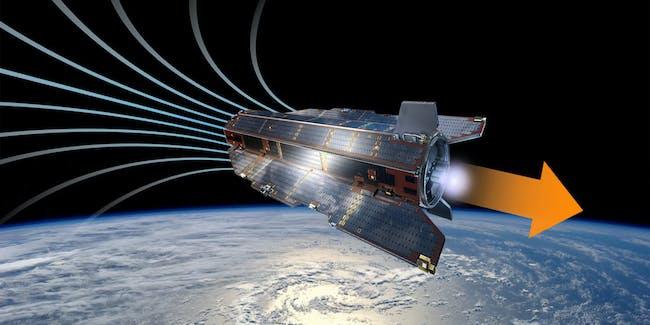 Air breathing satellite