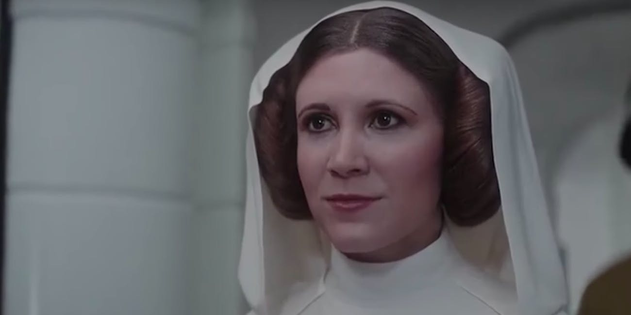 carrie fisher didn t realize leia was made with cgi in rogue one