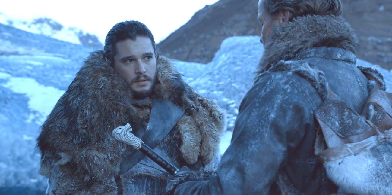 Jon Snow and Jorah Mormont on 'Game of Thrones'