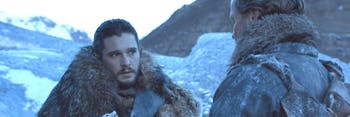 Jon Snow and Jorah Mormont on 'Game of Thrones'