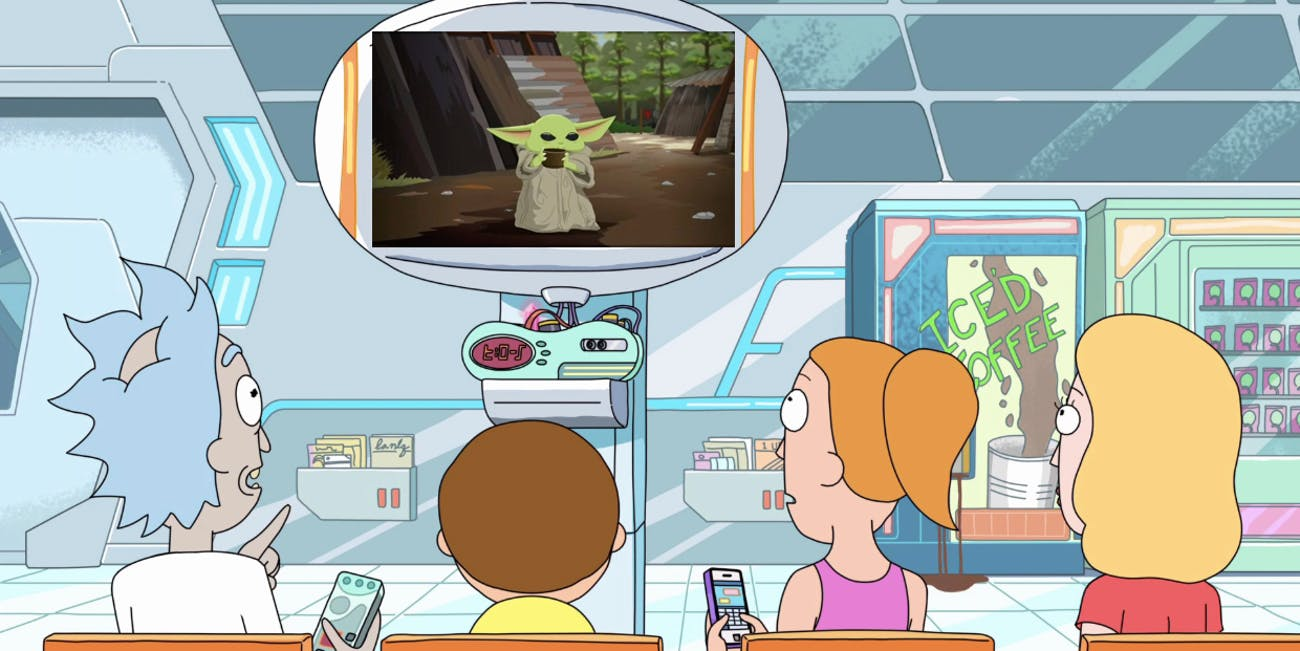 rick and morty baby yoda south park