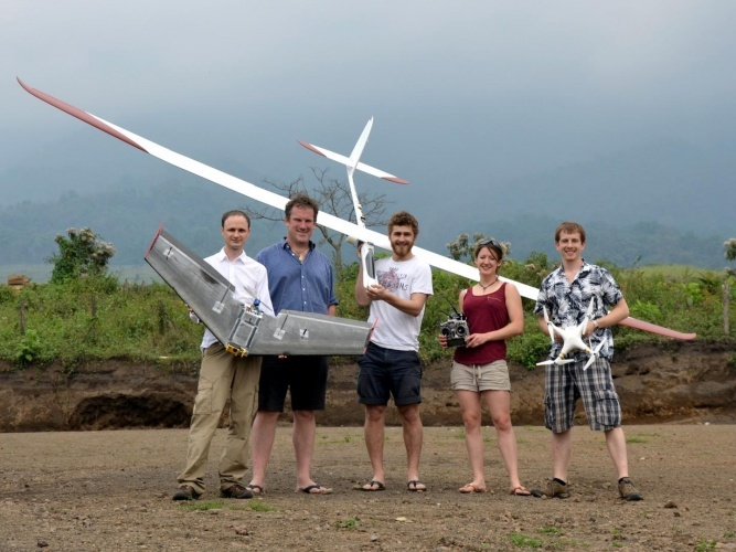 The flight team (left to right): Colin Greatwood, Thomas Richardson, Ben Schellenberg, Emma Liu and Kieran Wood