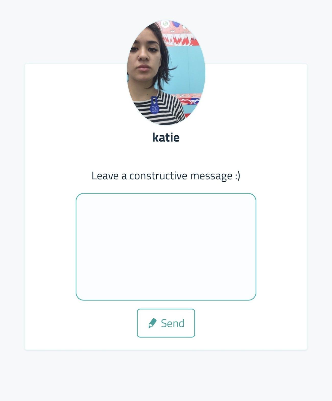 Sarahah Screenshot
