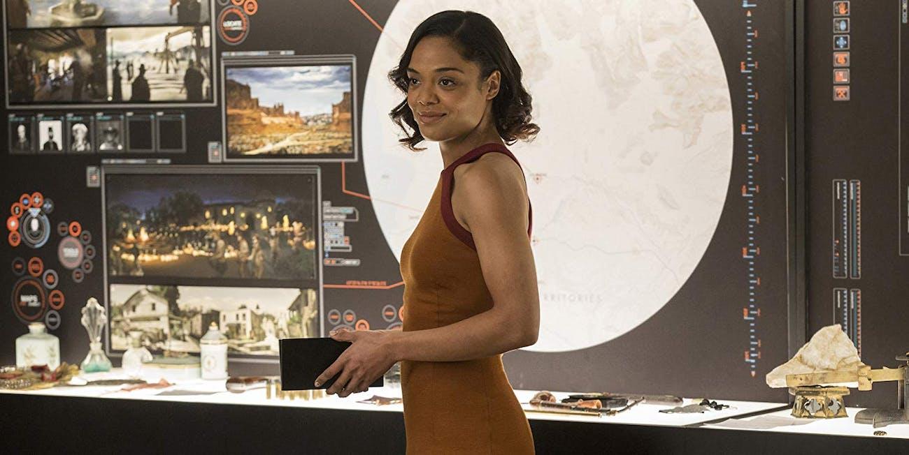 Tessa Thompson as Charlotte Hale in 'Westworld' Season 1