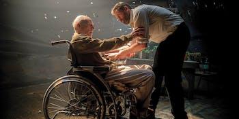 Patrick Stewart and Hugh Jackman in 'Logan'