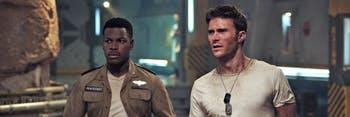 John Boyega's Jake Pentecost and Scott Eastwood's Nate Lambert lead a new generation of Jaeger pilots.