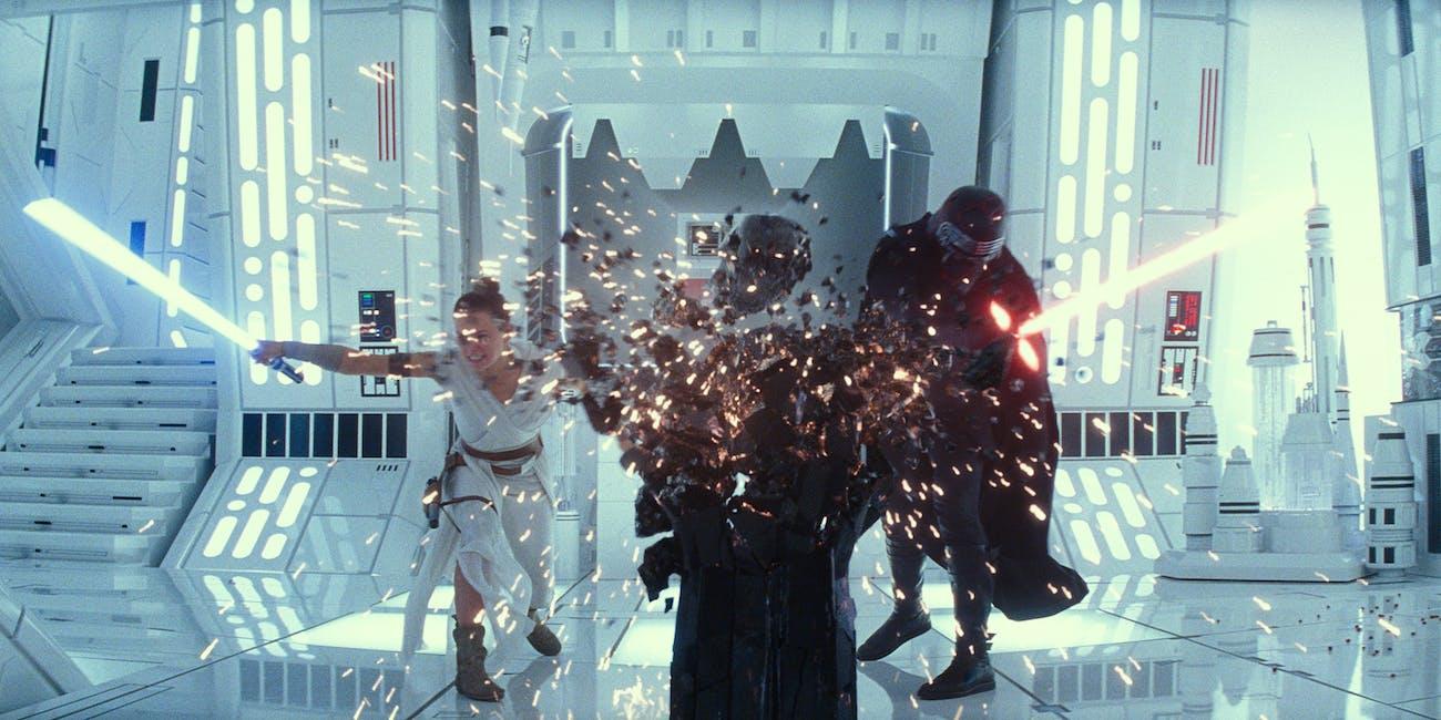 star wars rise of skywalker rey kylo ren fight