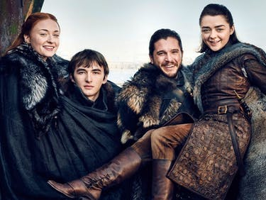 Sophie Turner, Isaac Hempstead-Wright, Kit Harington, and Maisie Williams in 'Game of Thrones' Season 7