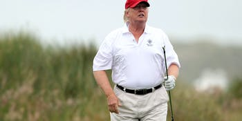 donald trump fat golf