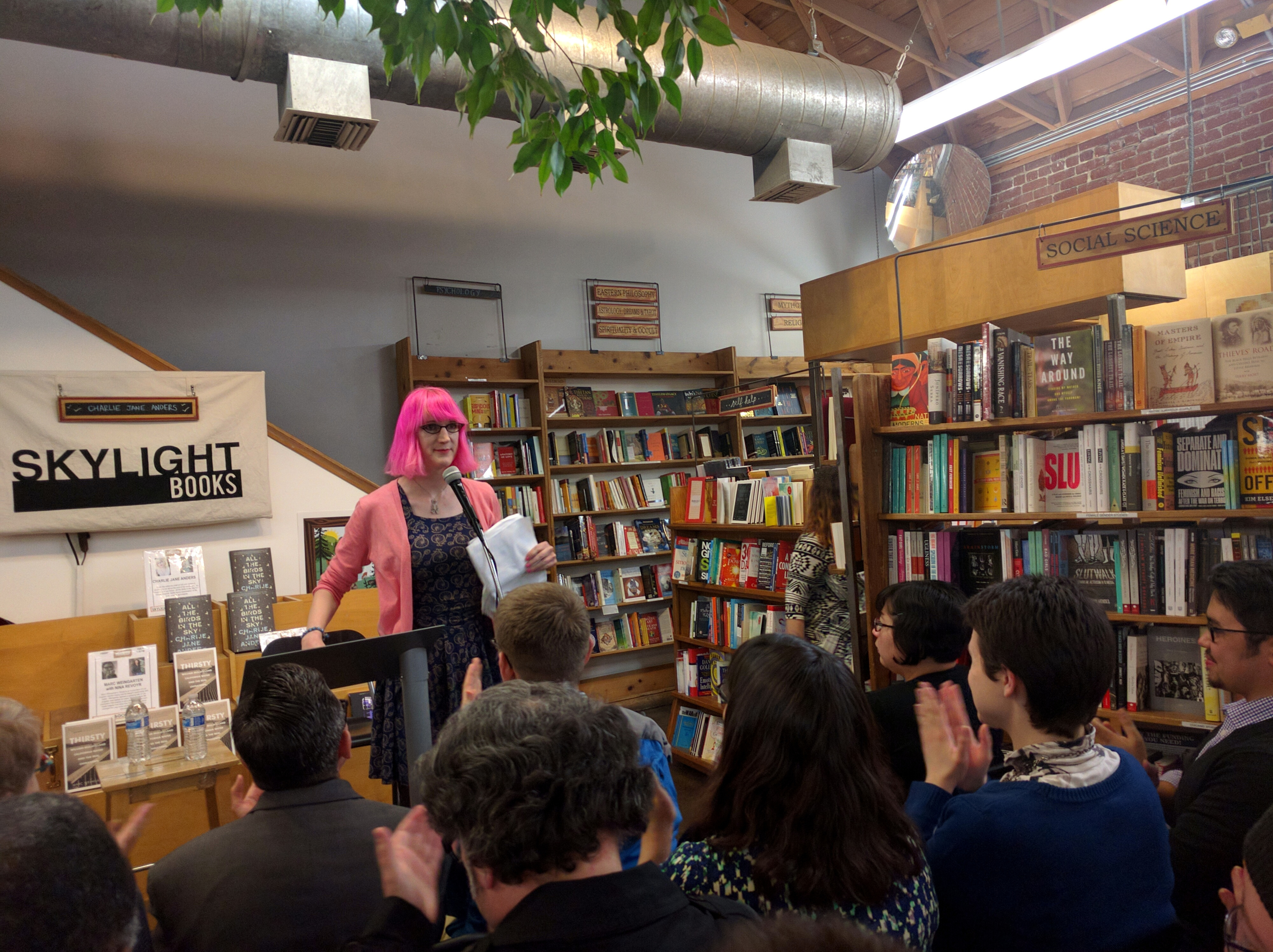 Charlie Jane Anders, Skylight Books, Echo Park, Los Angeles, California, USA