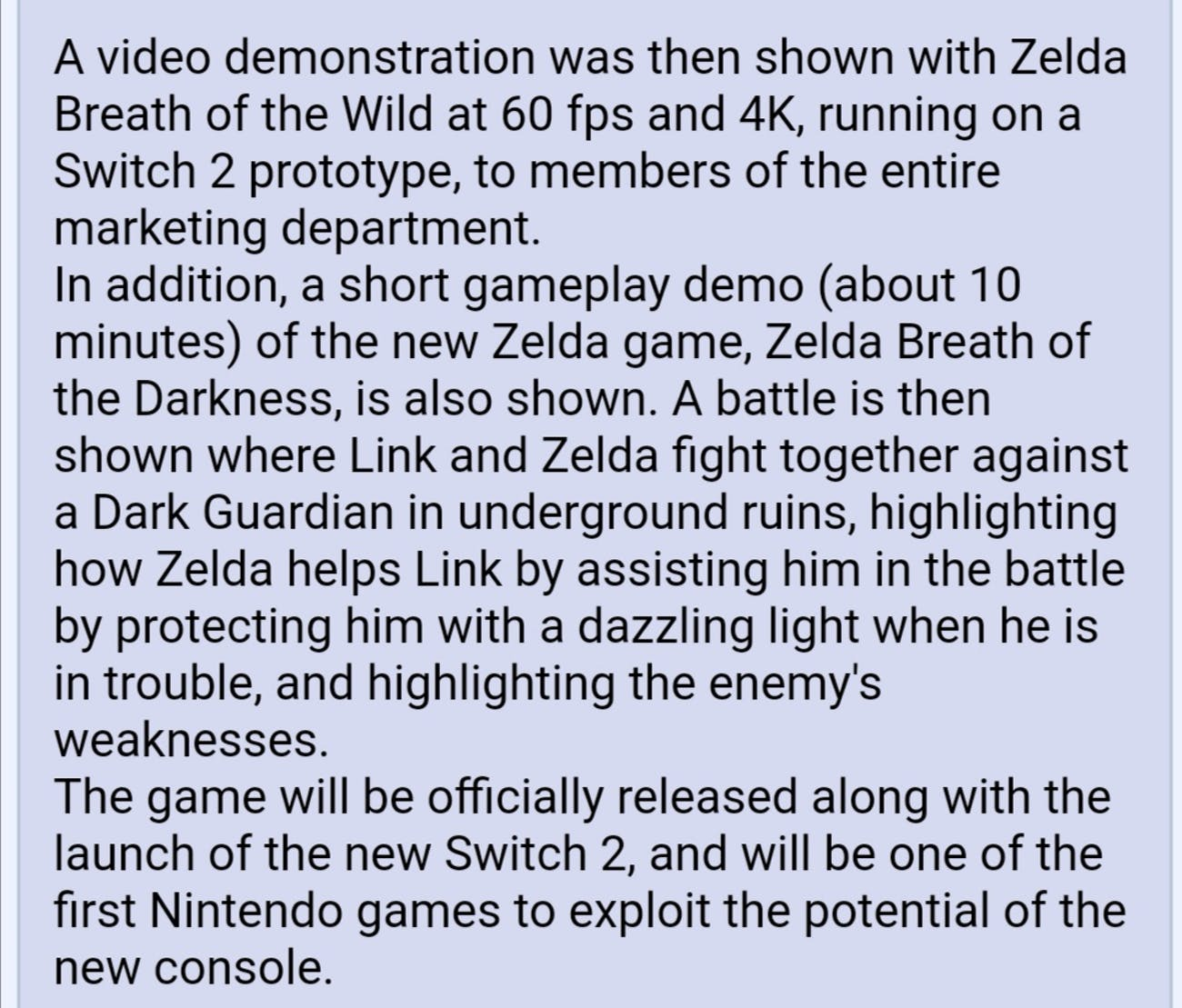 4chan breath of the wild 2 leaks rumors