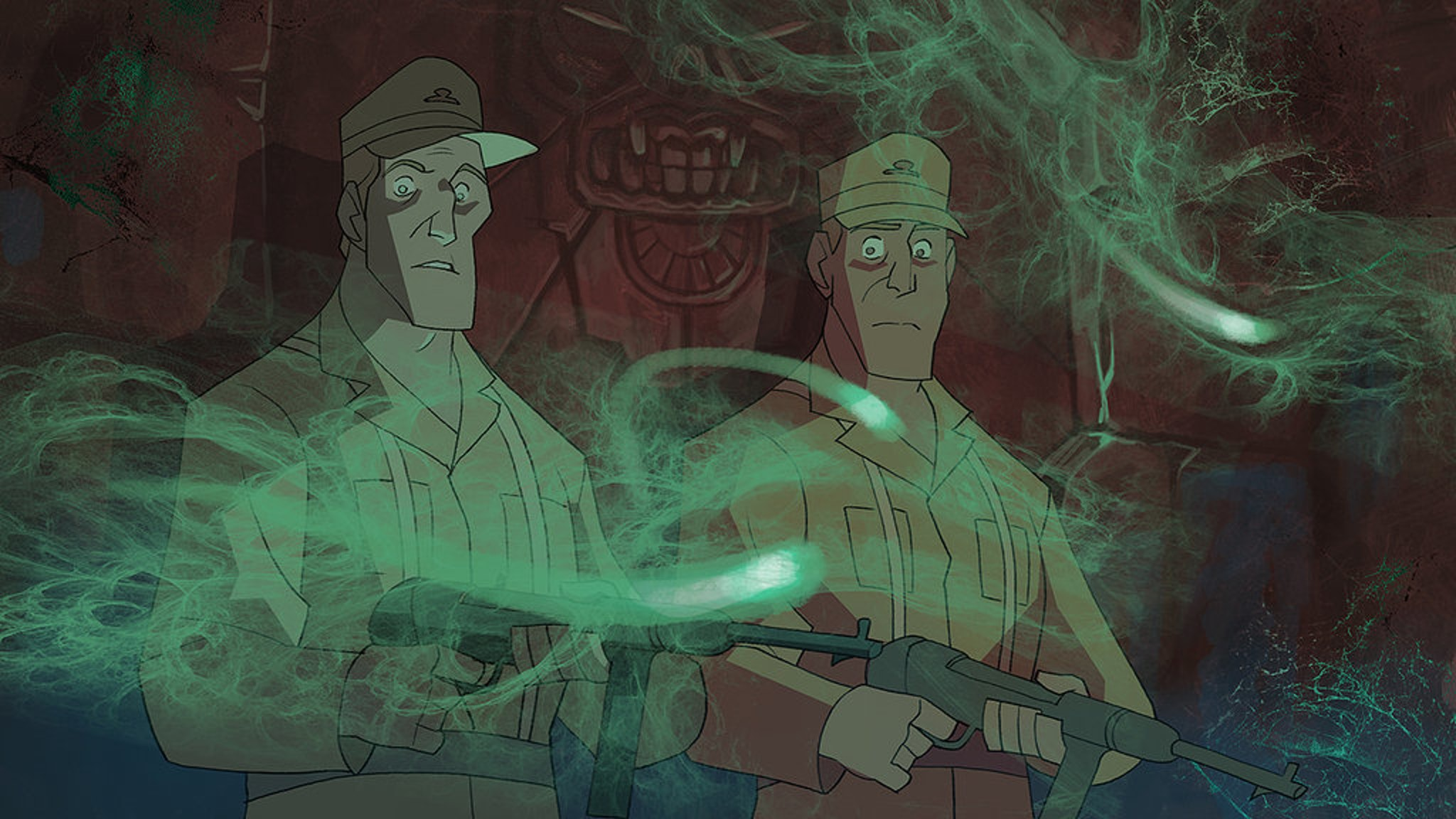 Nazi bad guys from the into to 'The Adventures of Indiana Jones'