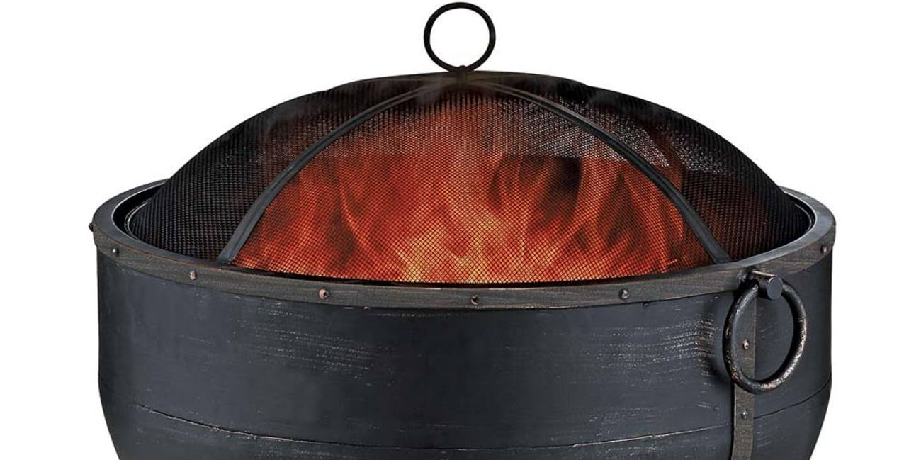 Bronze Cauldron Wood-Burning Fire Bowl