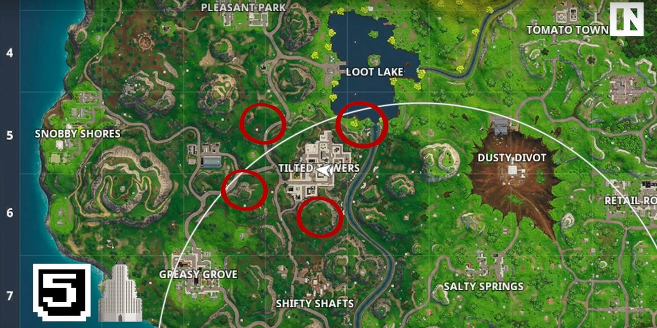 Any of these spots around Tilter Towers will ensure you survive the bloodbath of the city.